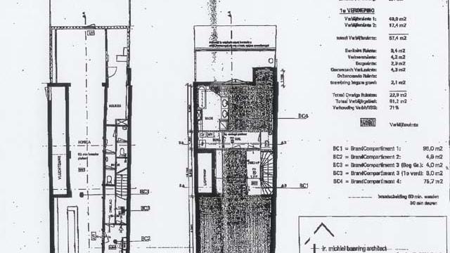 Plattegrond begane grond en eerste etage