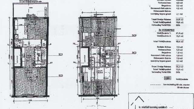 Plattegrond tweede en derde etage