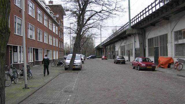 straatbeeld richting Noord