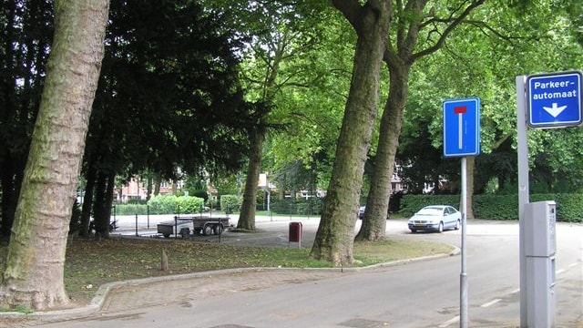 Achterzijde park