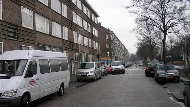 Straatbeeld Hogenbanweg te Rotterdam
