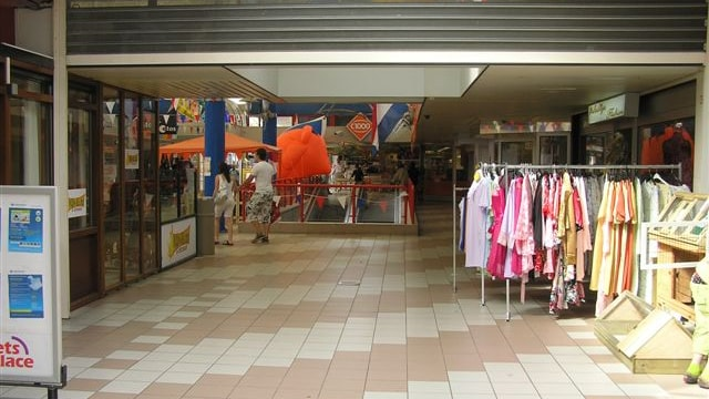 Winkels in het winkelcentrum