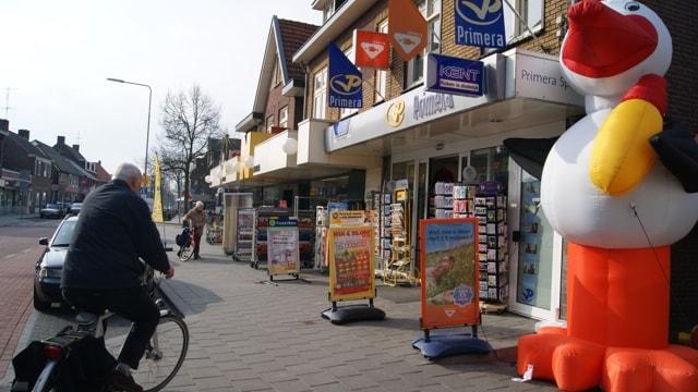 Straatbeeld Spoorstraat te Gennep