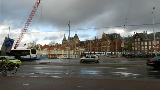 Uitzicht voorzijde op Centraal Station