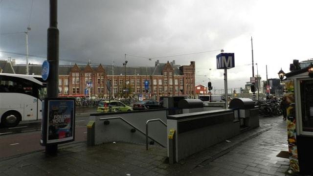 Metrostation voorzijde