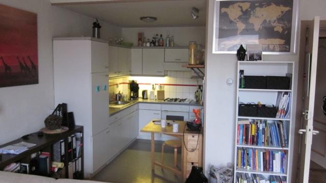 Tweede verdieping - woonkamer met open keuken