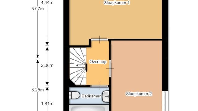 Staakmolenstraat - 1e verdieping