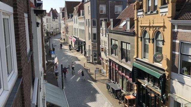 Straatzicht vanuit Walstraat