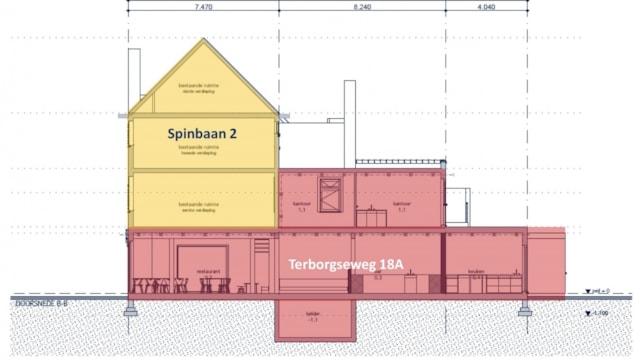 Terborgseweg 18A en 18B & Spinbaan 2 en 2A