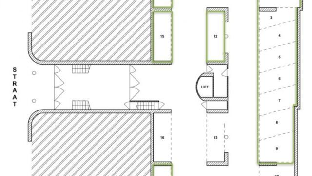 Plattegrond - aangeboden parkeerplaatsen