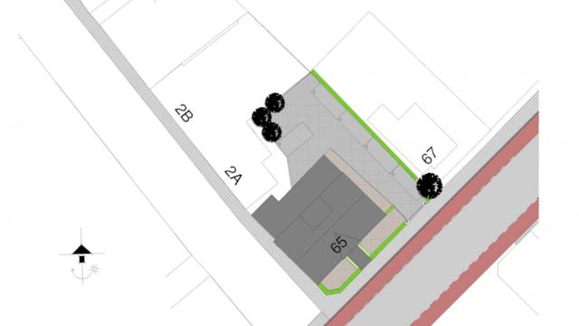 Aanvraag vergunning met 5 parkeerplaatsen